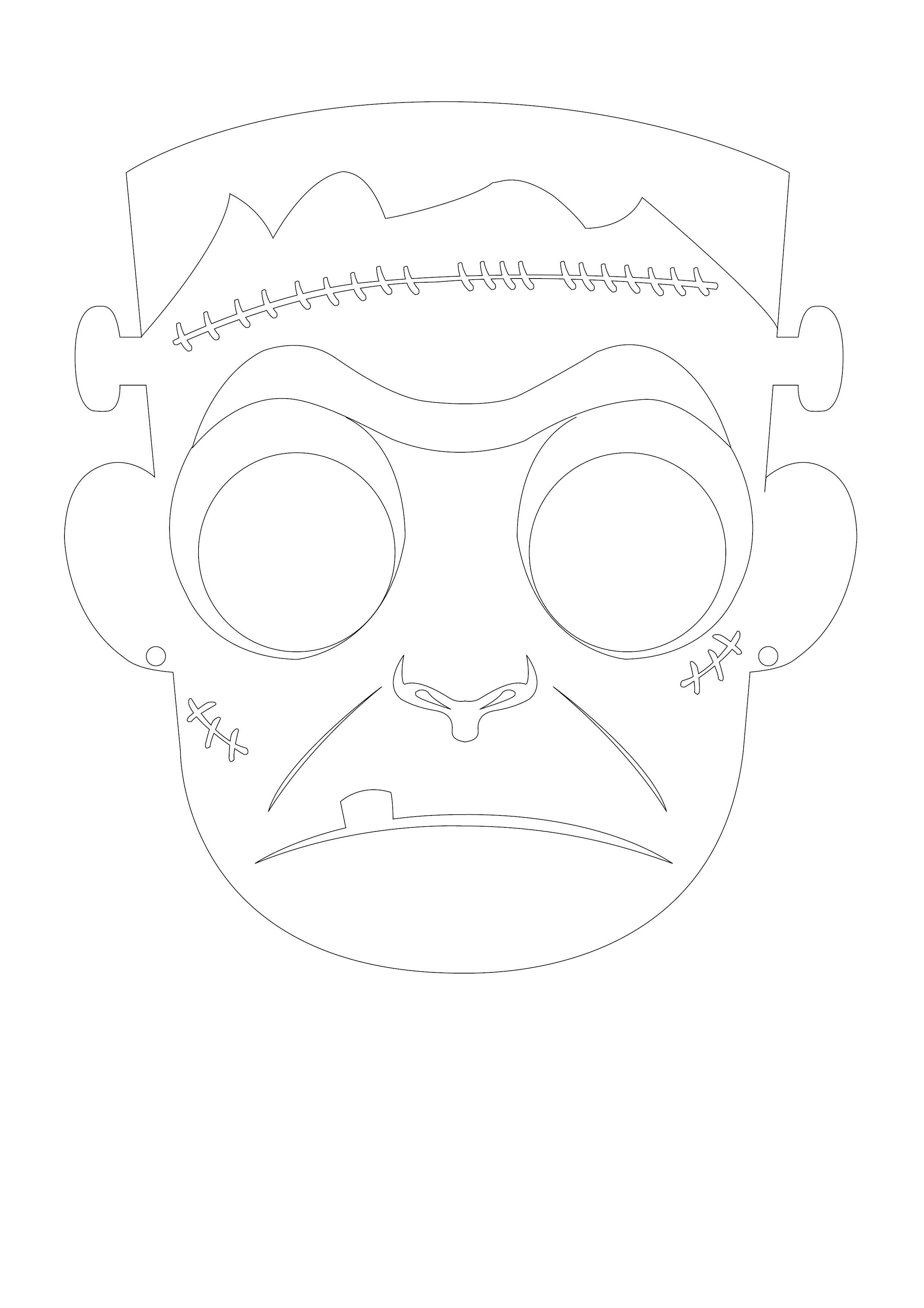 Le masque d 39 halloween imprimer - Masque halloween a colorier ...