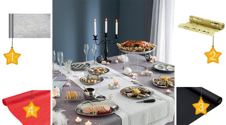 Conseils r ussir sa d coration de buffet de nouvel an - Decoration de table nouvel an ...