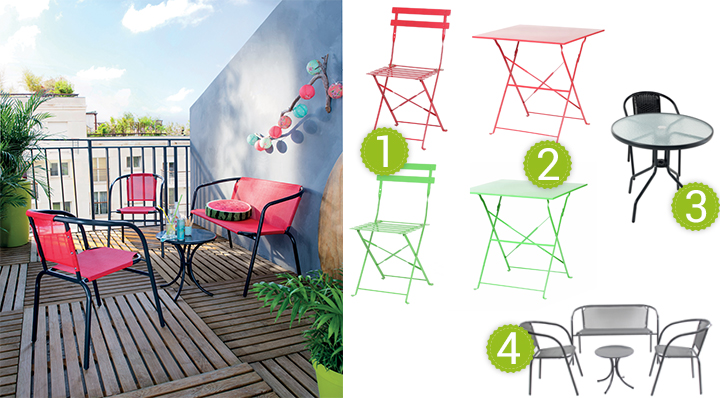 10 id es pour am nager un petit balcon - Petit salon jardin pour balcon ...
