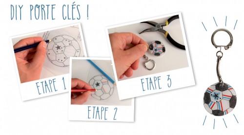 DIY : Réaliser un porte-clés foot Euro - Activités créatives La Foir'Fouille