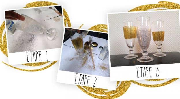 DIY décoration de table verre à paillettes - Blog La Foir'Fouille