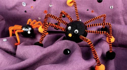 Réaliser une araignée d'Halloween - le DIY proposé par le blog de La Foir'Fouille