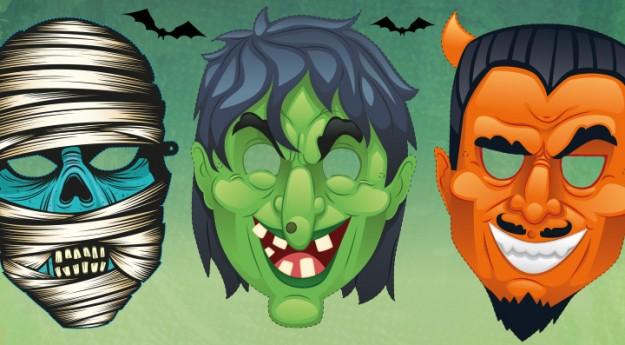 DIY: Le masque d'Halloween à imprimer ou à colorier