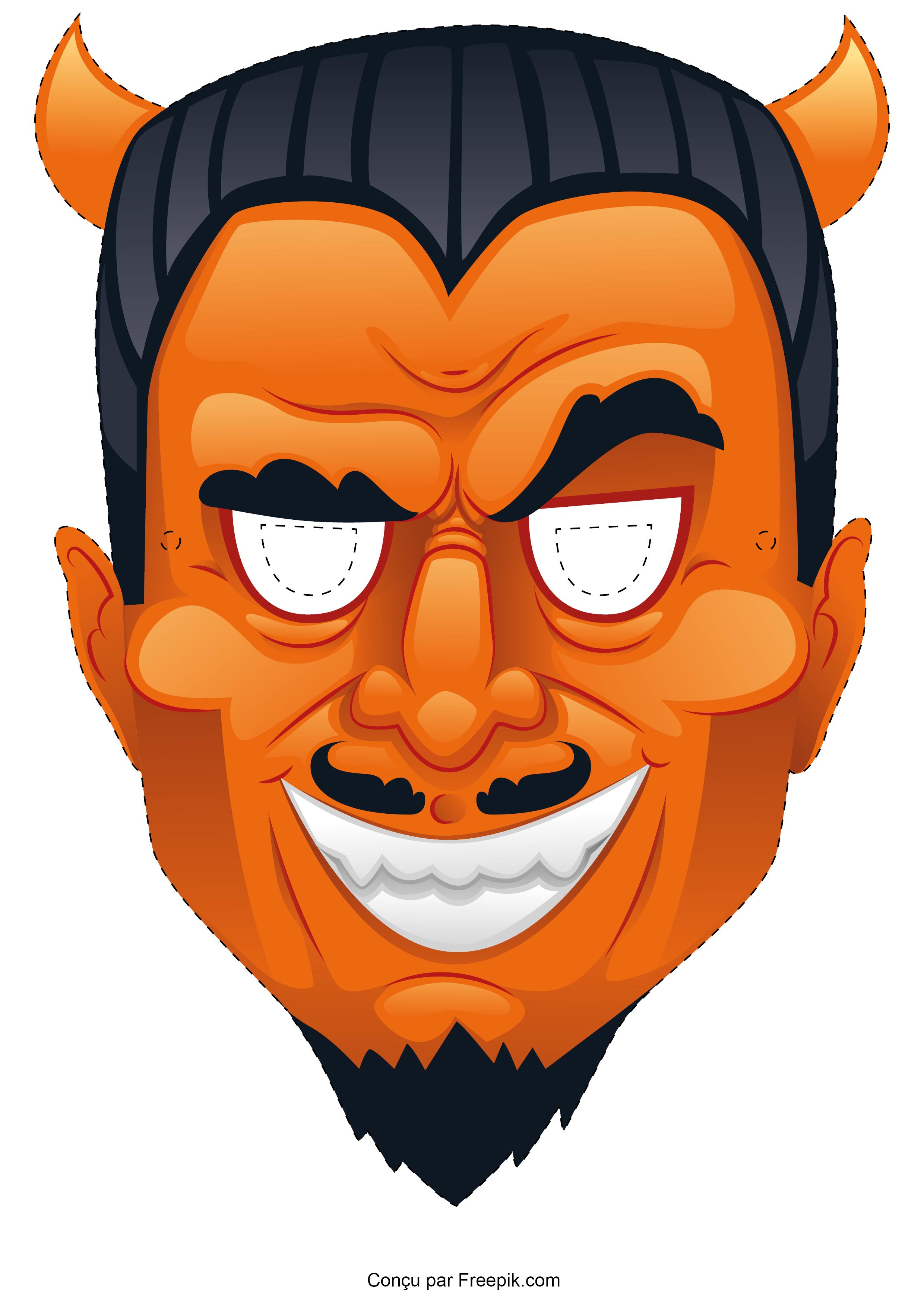 Le masque d'Halloween à imprimer - DIY - Le Blog de La Foir'Fouille