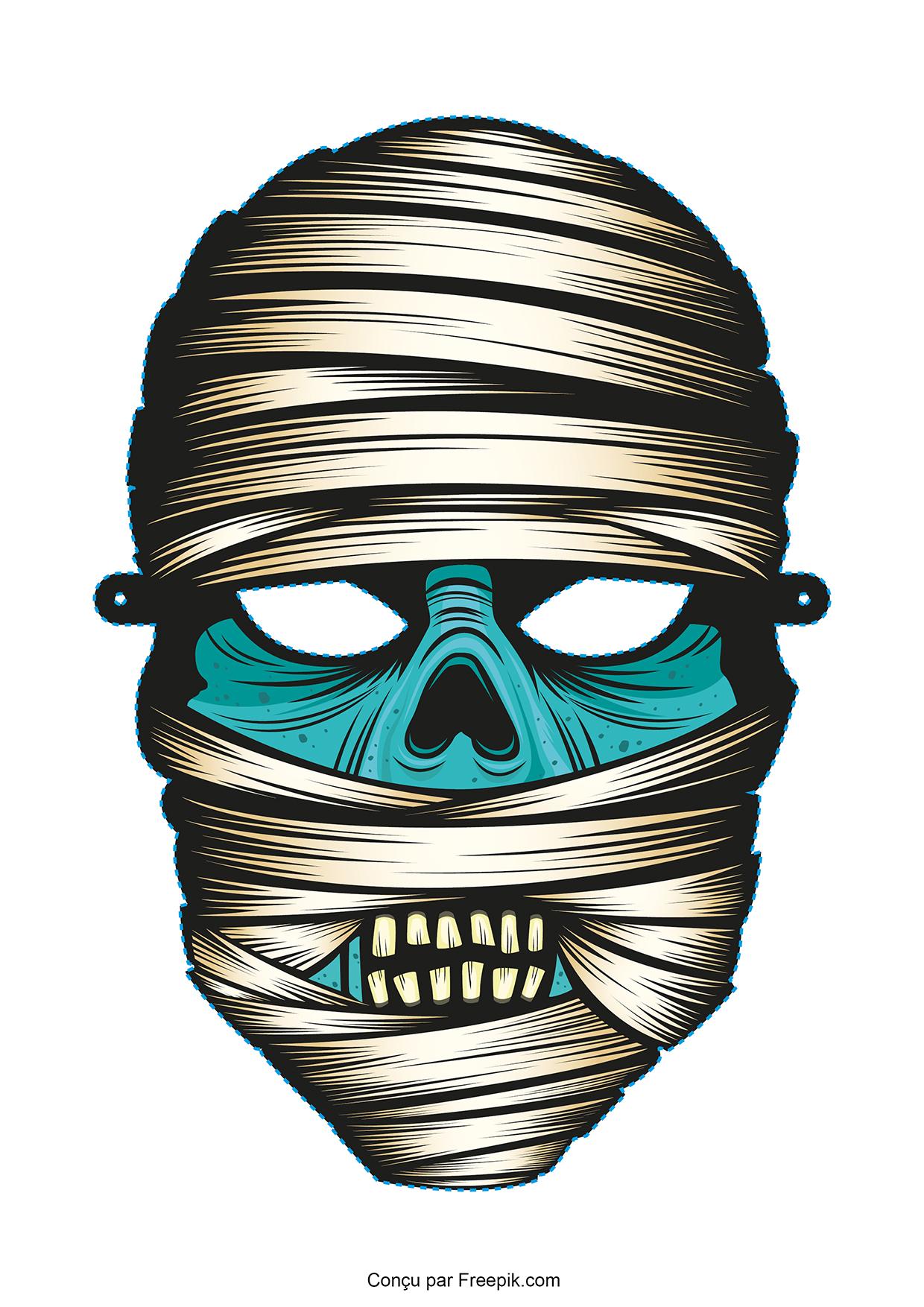 Le masque d 39 halloween imprimer - Coloriage masque halloween imprimer ...