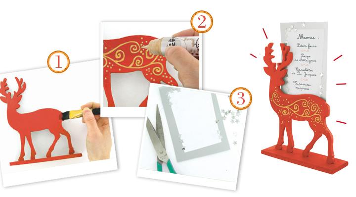 DIY - Le porte-menu cerf de Noël - Blog de la Foir'Fouille