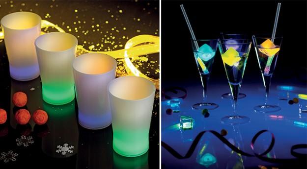 Brillants les accessoires LED pour le réveillon!