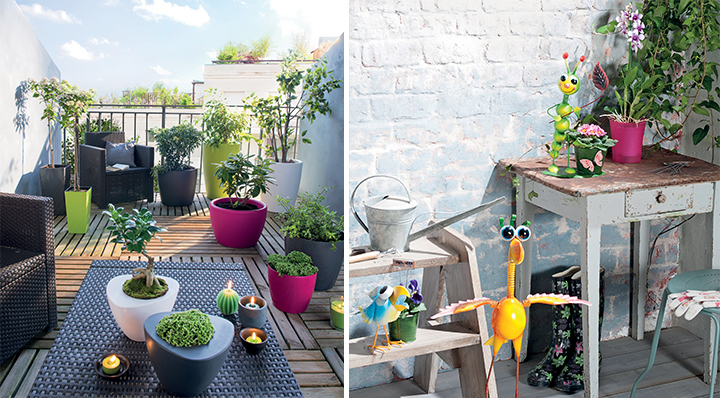 10 id es pour am nager un petit balcon for Amenager un petit coin terrasse