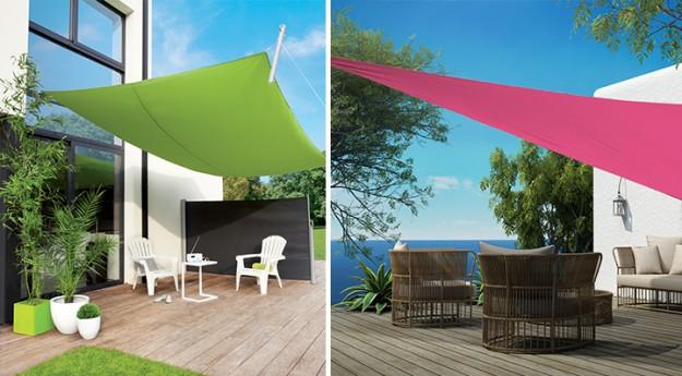 On adore : La voile d'ombrage pour un espace extérieur cosy