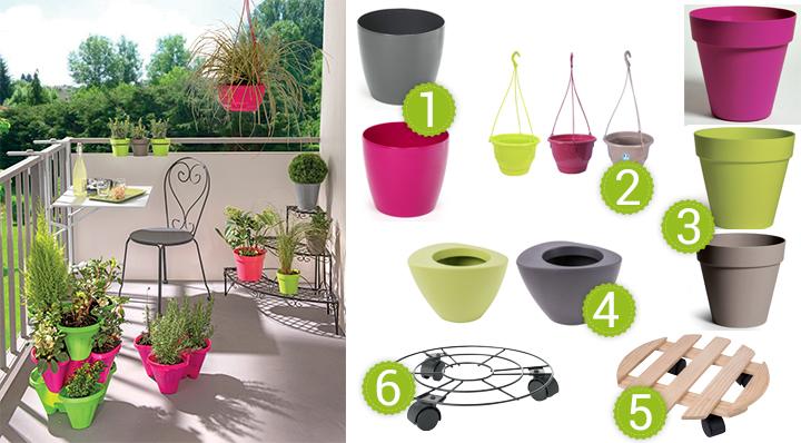 10 id es pour am nager un petit balcon. Black Bedroom Furniture Sets. Home Design Ideas
