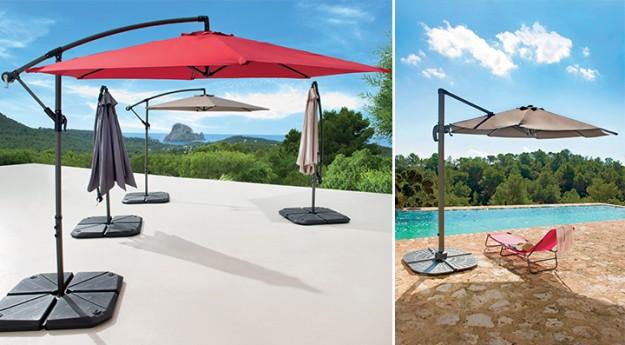 On adore: Le parasol déporté pour un été bien protégé