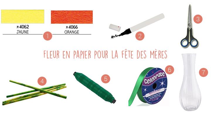 DIY - Réaliser une fleur en papier pour la fête des mères - Blog La Foir'Fouille