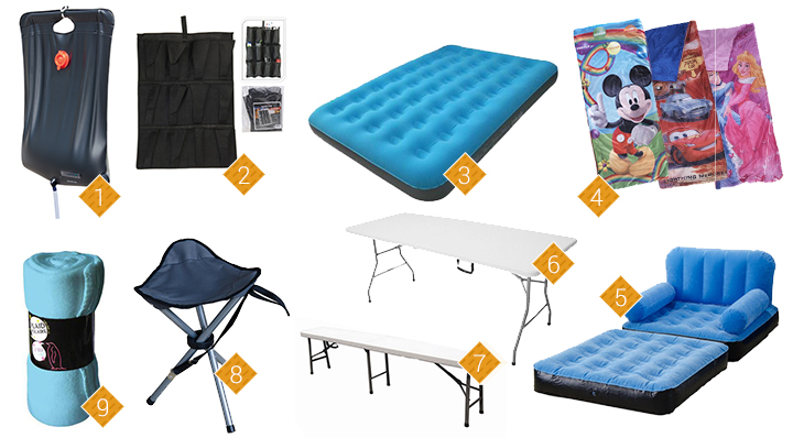 les 10 accessoires de camping indispensables. Black Bedroom Furniture Sets. Home Design Ideas