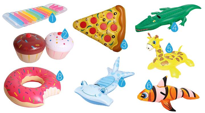 On adore les accessoires gonflables de piscine for Piscine la foir fouille