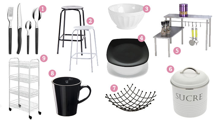 Affordable blog la la dcoration noir et blanc with for Table exterieur la foir fouille