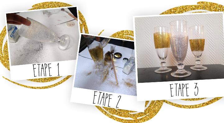 DIY décoration de table verre à paillettes - Blog La Foir'Fouille