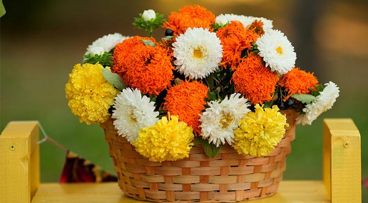 Composition florale d'automne