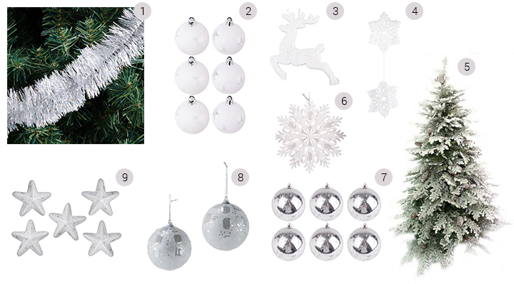 Comment réussir sa déco de Noël en blanc - Blog La Foir'Fouille