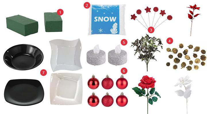 Suivez notre tuto pour réaliser un élégant centre de table fleuri pour Noël - DIY - Blog La Foir'Fouille