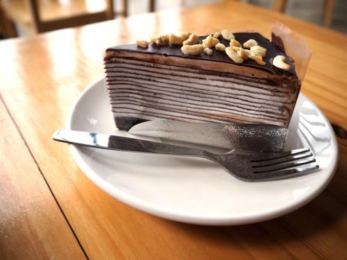 On adore : Le gâteau de crêpes au chocolat pour la chandeleur - Blog La Foir'Fouille