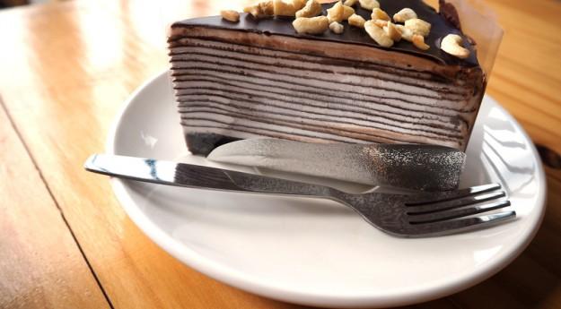On adore : Le gâteau de crêpes au chocolat