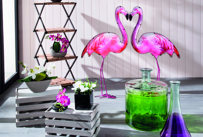on adore la d co flamant rose blog la foirfouille. Black Bedroom Furniture Sets. Home Design Ideas