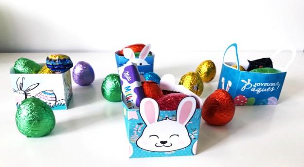 DIY: Des boîtes de Pâques à imprimer
