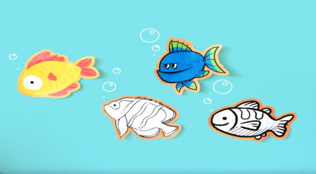 DIY : 4 poissons d'avril à imprimer