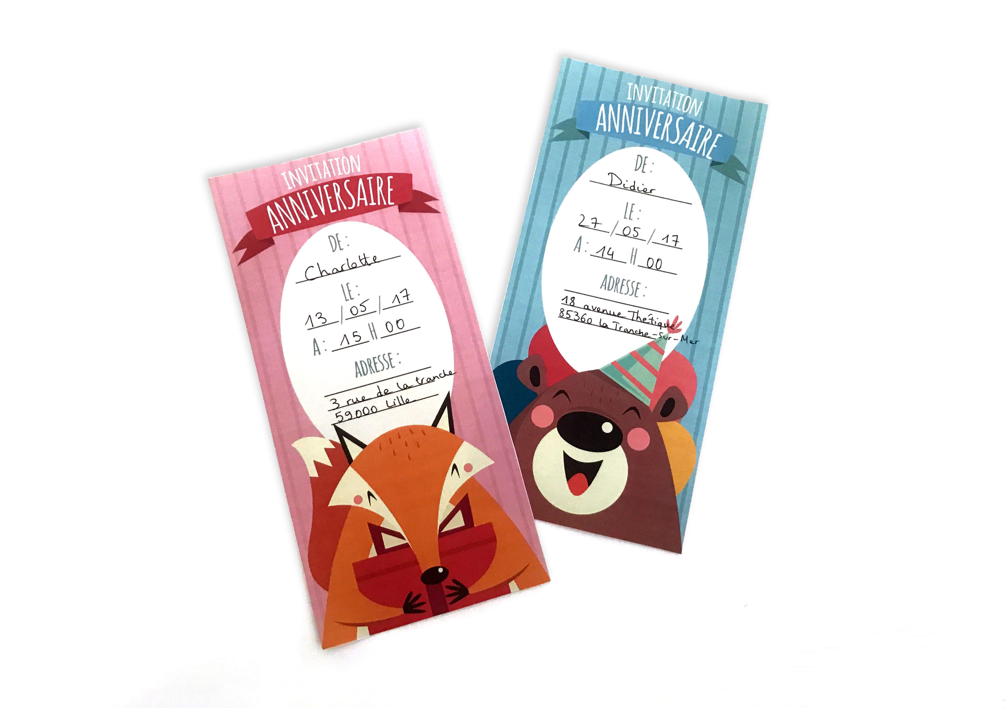 Quelques conseils et invitations d'anniversaire enfant à imprimer - On adore - Blog La Foir'Fouille