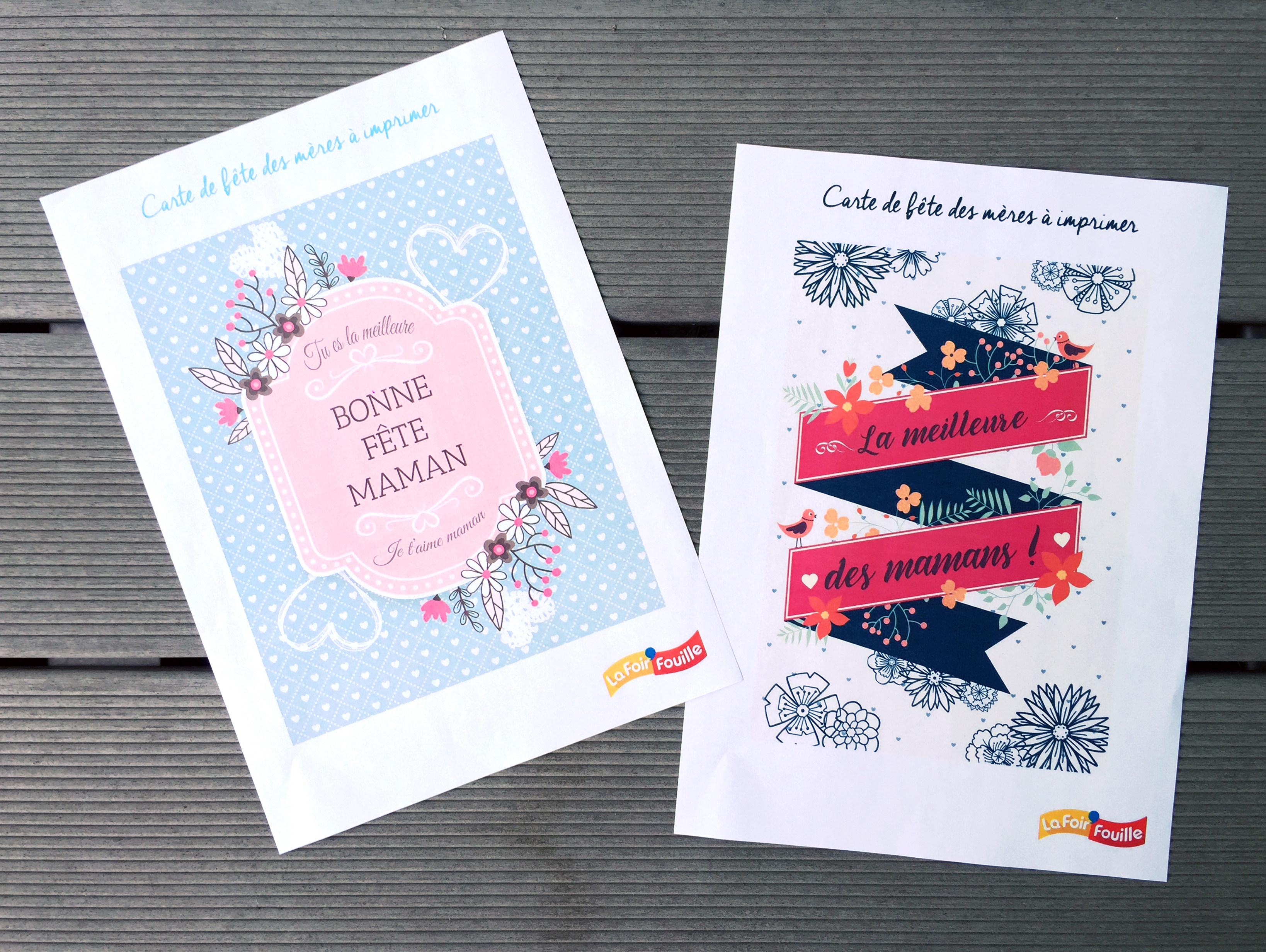 Des cartes de fête des mères à imprimer - DIY - Blog La Foir'Fouille