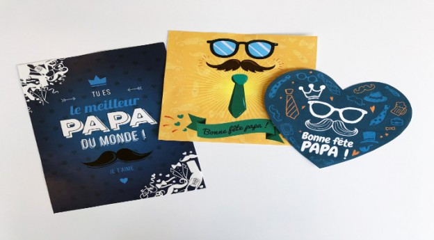 DIY - Cartes de fête des pères à imprimer - Blog La Foir'Fouille