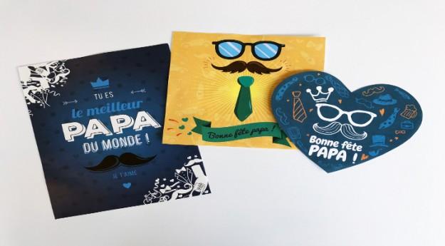 DIY : 3 cartes de fête des pères à imprimer