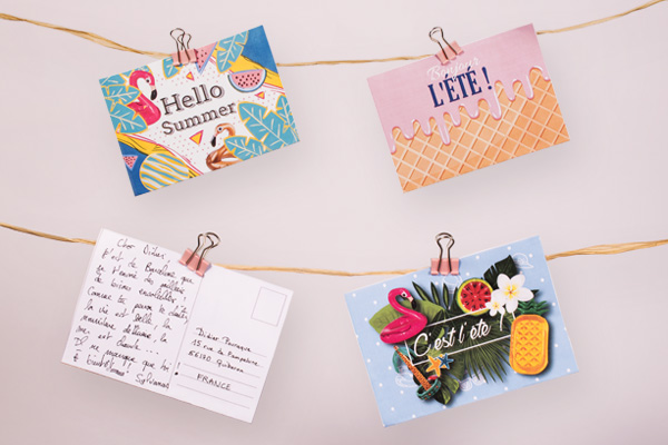 4 modèles de cartes postales à imprimer - DIY - Blog La Foir'Fouille