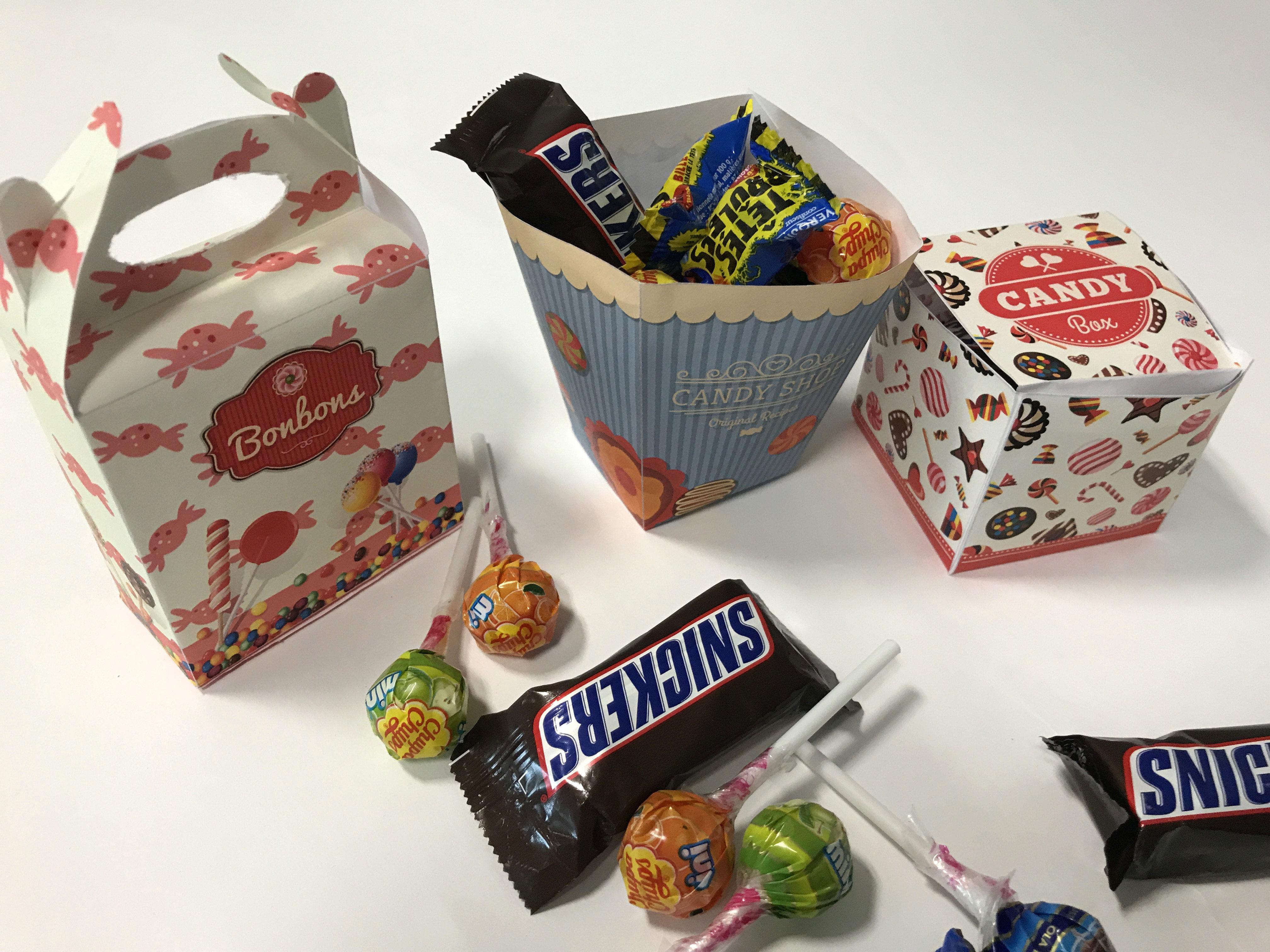 3 boîtes de bonbons à imprimer - Blog La Foir'Fouille - DIY