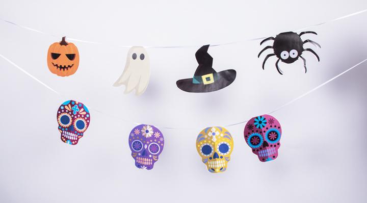 Blog La Foir'Fouille - DIY - 3 guirlandes d'Halloween à imprimer