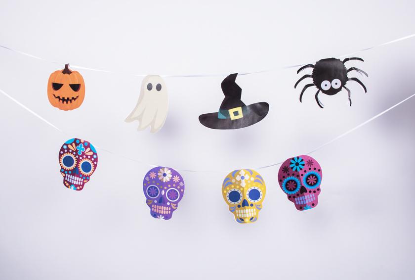Diy ma guirlande d 39 halloween imprimer blog la foirfouille - Guirlande halloween a imprimer ...