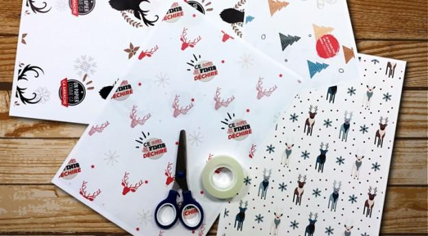 DIY : 4 modèles de papier cadeau à imprimer