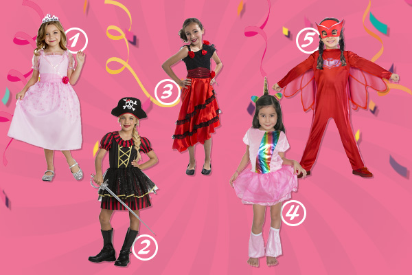 Pour le Carnaval, voici 5 déguisements filles - Blog La Foir'Fouille - On adore