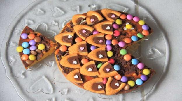 On adore - La recette du gâteau poisson d'avril - Blog La Foir'Fouille