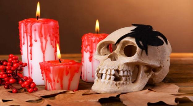 DIY - Mes bougies sanglantes d'Halloween - Blog La Foir'Fouille
