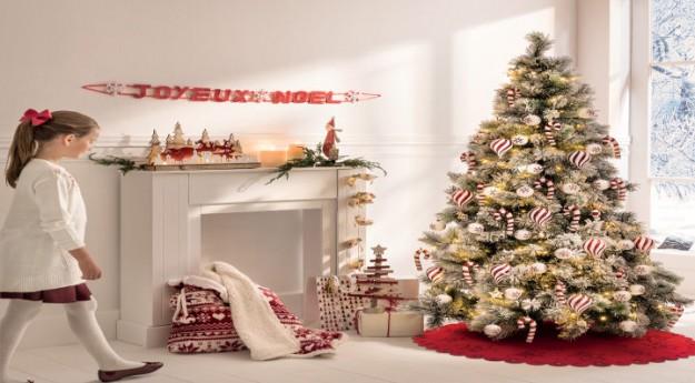 Style : Au coin du feu, une déco de Noël en rouge et blanc