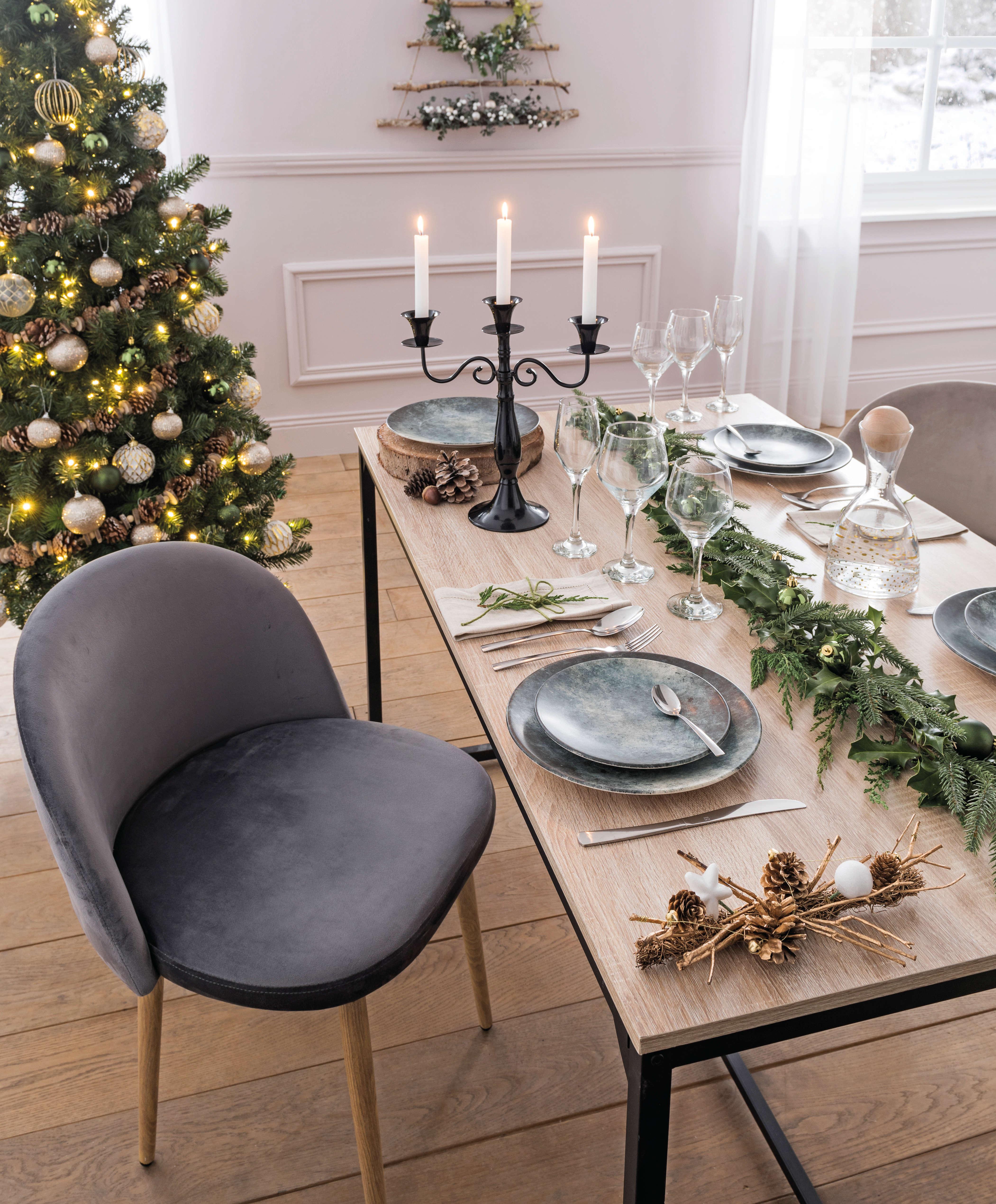 Style : Une déco de table naturelle pour un Noël en forêt  Blog