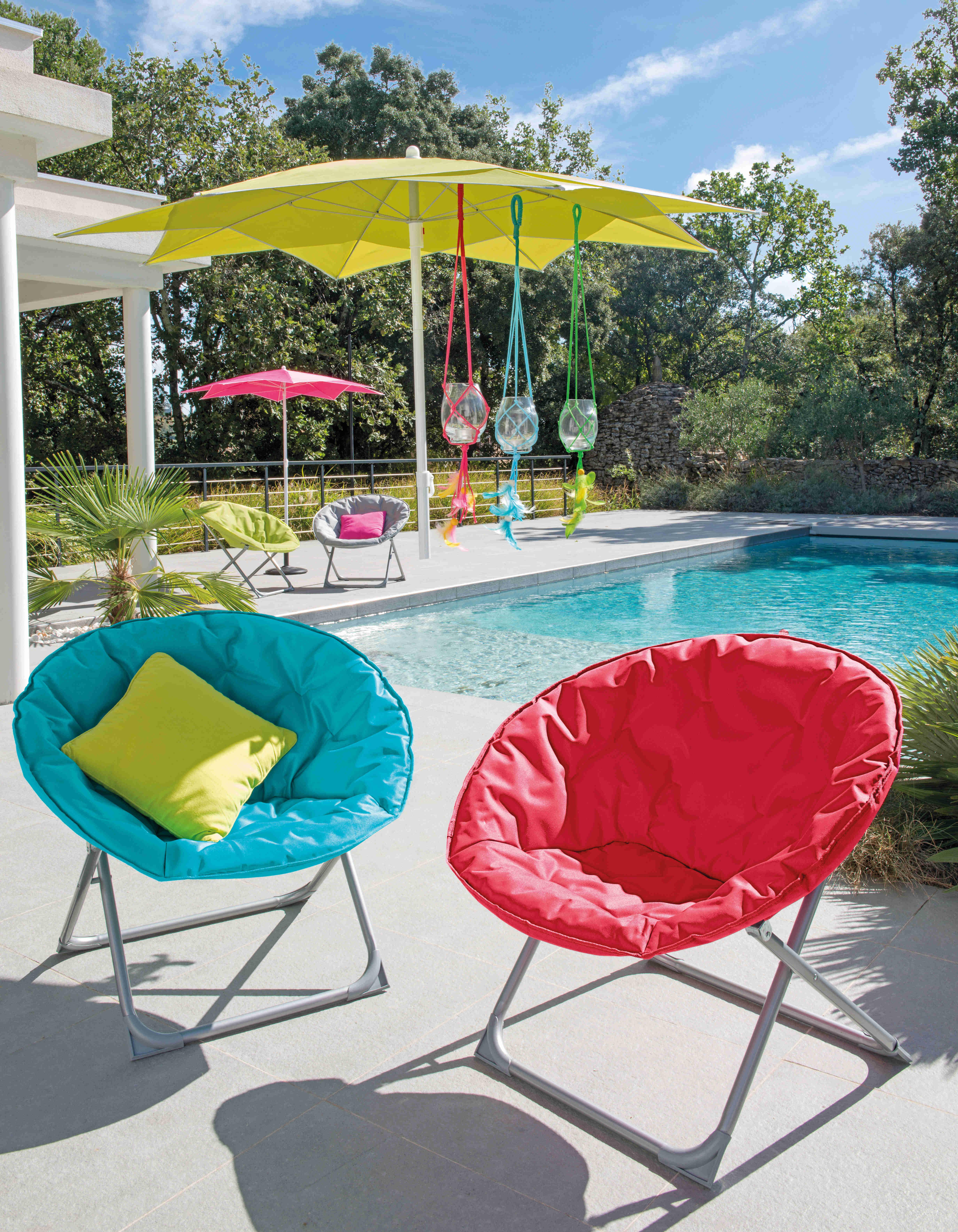Aménager une terrasse colorée - Ambiance 3