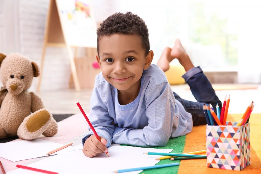 DIY - garçon - 4 cartes à colorier pour la fête des pères