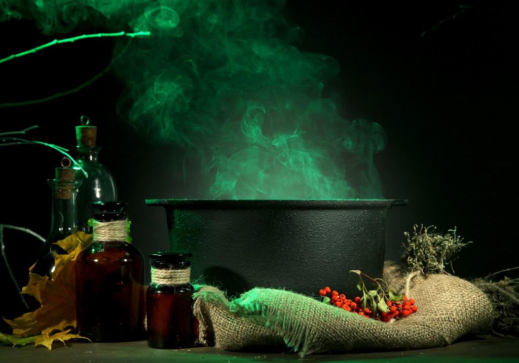 Chaudron bouillonnant - DIY - Préparer des potions de sorcière
