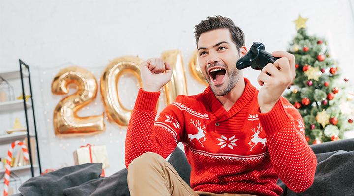Handsome Christmas player - La Foir'Fouille - Conseils - 6 Cadeaux de Noël pour un gamer