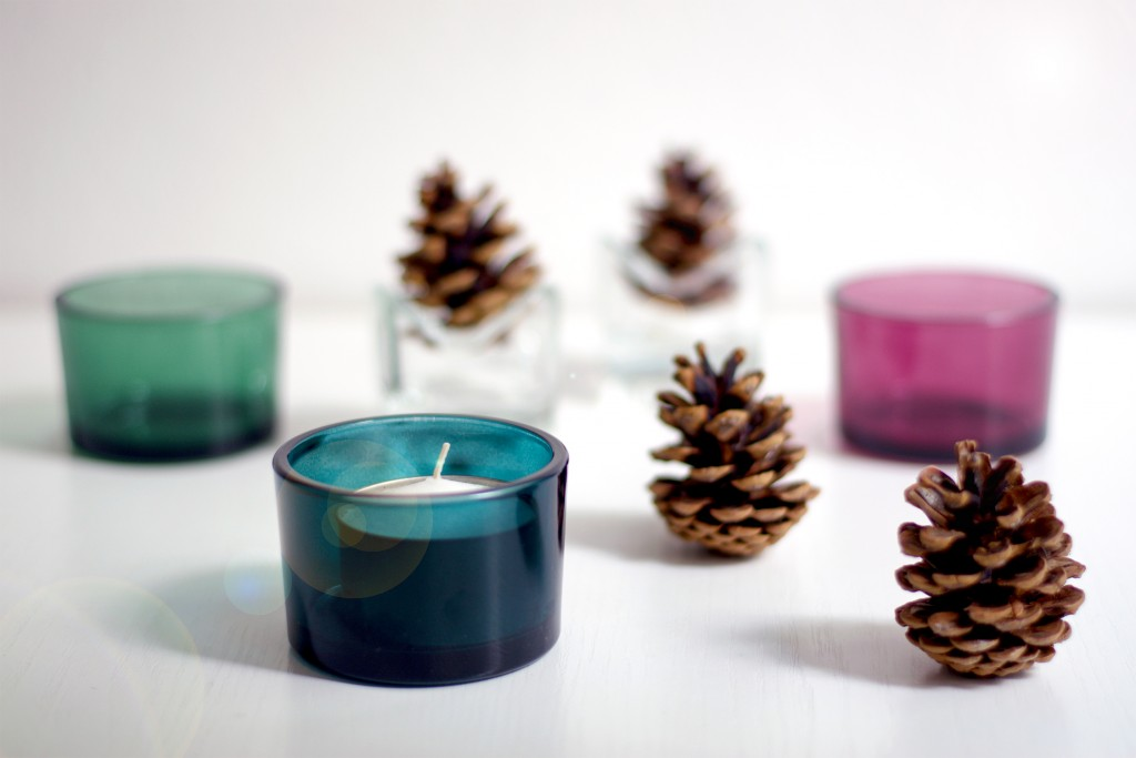 Photophores en verre - DIY - Trois idées de photophores pour Noël