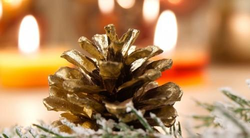 On adore – Intégrer des pommes de pin à son Noël nature