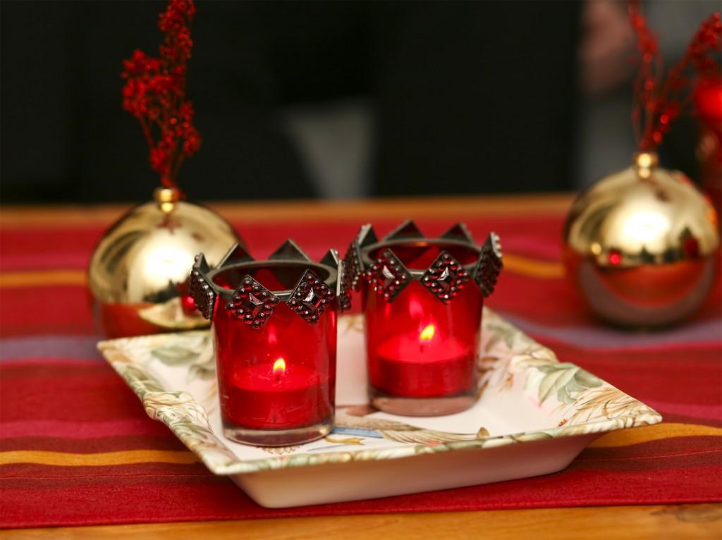 Bougies sur une table - DIY - Trois idées de photophores pour Noël - La Foir'Fouille