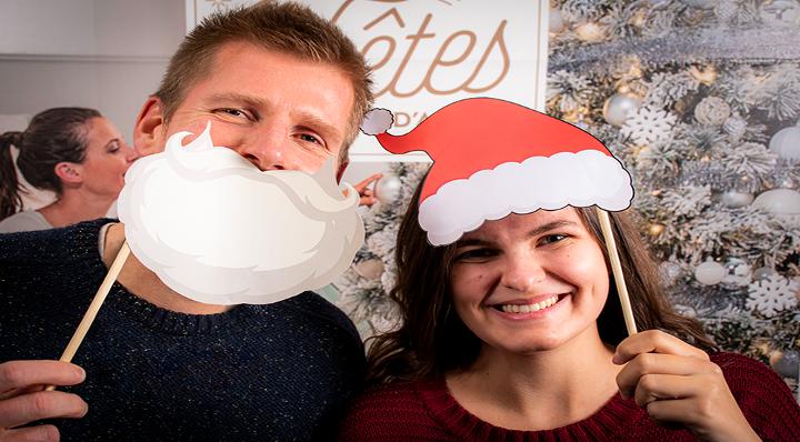 DIY - Blog La Foir'Fouille - Accessoires photobooth de Noël à imprimer